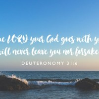 """I Will Never Leave You Nor Forsake You"""
